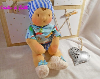 baby waldorf 11/12 inches , 100 % organic , made from eco-friendly materials