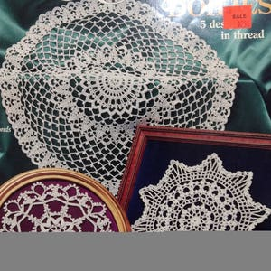 Elegant Doilies In Thread Crochet Home Decor 5 Designs Not A Finished  Product