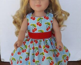 "18"" doll cherry dress, doll dress"