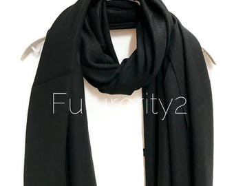 Black Cashmere Scarf /Autumn Winter Scarf /Gifts For Her /Gifts For Mother /Women Scarf/ Men Scarf /Handmade  Accessories /Christmas Gifts