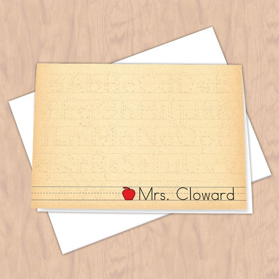 personalized notecards, thank you cards, teacher thank you cards, graduation thank you cards, teacher appreciation gift, teacher gift, NC118