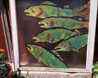Hand Painted Window Art