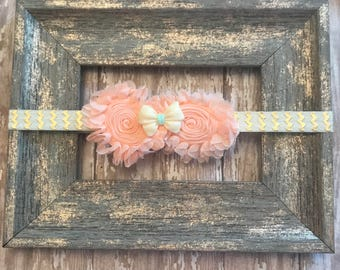 Baby headband, flower headband, infant headband, baby girl