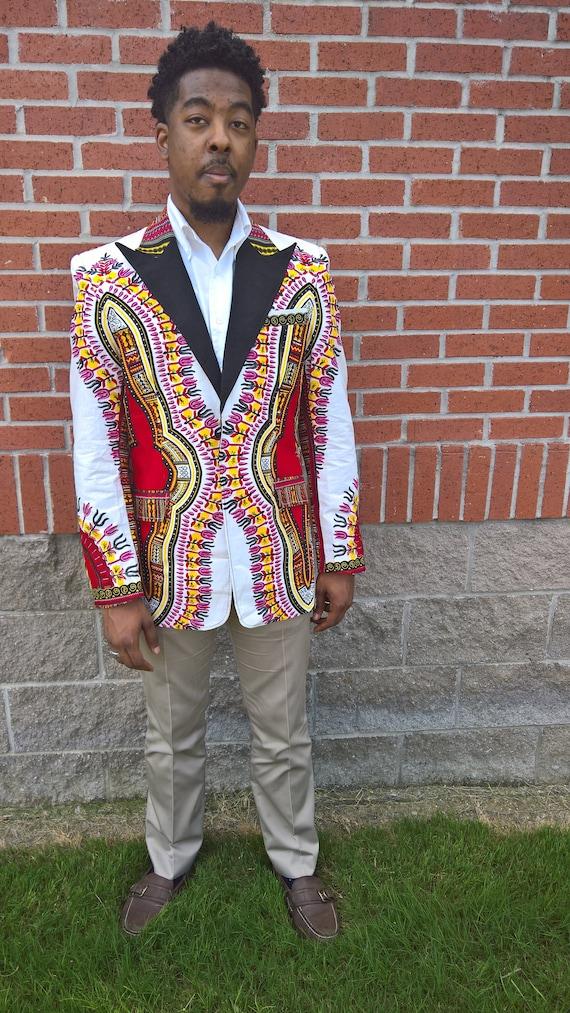 Vêtements africain African Dashiki homme veste en pagne