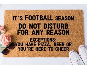 Football Season Doormat - Funny Door Mat - Football Doormat - Welcome Door Mat - Funny Doormats - Doormats - Doormat Humor - Unique Doormat