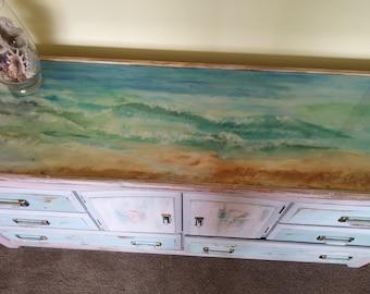 Hand Painted Ocean Dresser