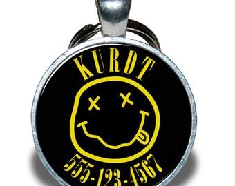 Pet ID Tag - Nirvana *Inspired* - Dog tag, Cat Tag, Pet Tag