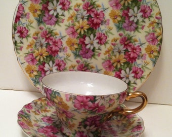 Royal Chintz 2016 Teacup Saucer And Snack Plate