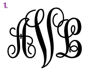 Monogram Adhesive Decals
