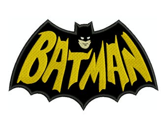 BATMAN Sign 2 Superhero Machine Applique Embroidery - Instant Digital Download