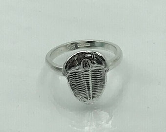 Silver Fossil Trilobite Ring