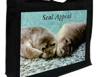 Seal Appeal Cotton Shopping Bag with gusset and long handles, 3 colour options