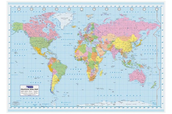 World political map poster gumiabroncs Images