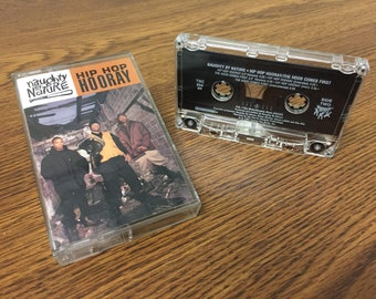 Vintage Naughty by Nature Hip Hop Hooray Cassette Tape rap tee 1993 Tommy Boy music hip hop 90s hood comes first trio new jersey east coast