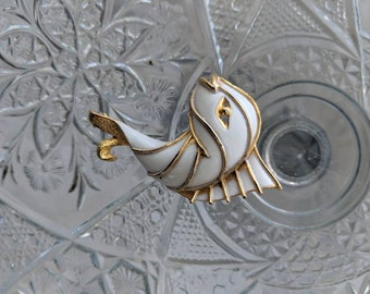 JJ Jonette Enamel Fish Brooch