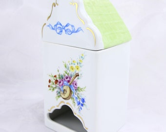 VSC Hand-Painted Tea Bag Canister with MUSICAL DELIGHT pattern