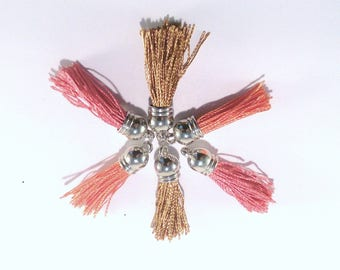 set of 6 tassels charms multicolor Polyester (122D)