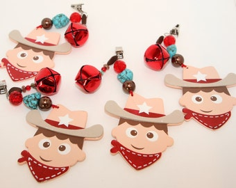 Cowboy Western Tablecloth Weights Set of 4