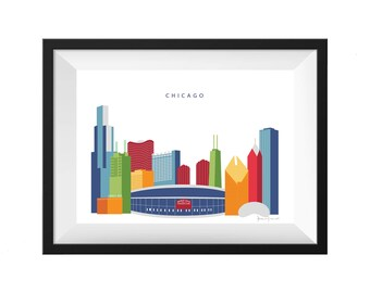 Chicago Illinois Skyline Print