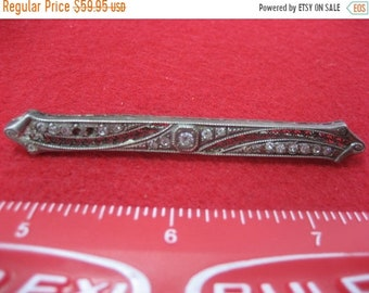 Sale 30% Off Antique Sterling Silver Brooch, Some stones are missing See pictures