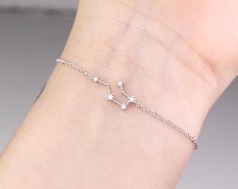 Aquarius bracelet, horoscope bracelet, zodiac bracelet, Aquarius star sign, zodiac jewelry, constellation bracelet, Aquarius jewelry, gift