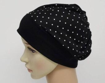 Beanie hat for women, elegant lightweight beanie, summer head wear, viscose jersey beanie, women's beanie