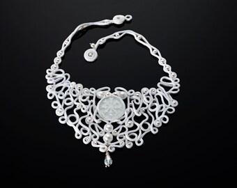 """Soutache necklace """"Biancaneve"""""""