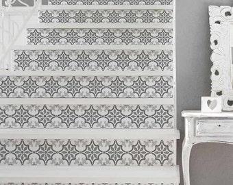 Fabiola Tile Stencil - Size: Medium - Reusable Stencils for Walls - Perfect for a Kitchen Backsplash - DIY Wall Design