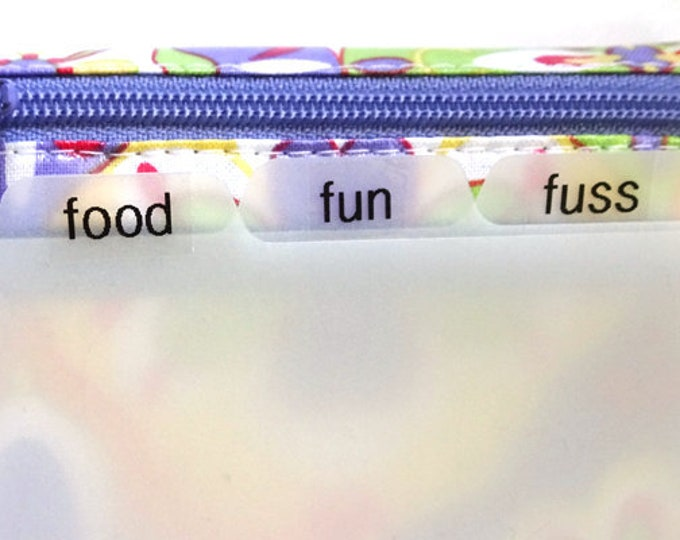 Set of 3 custom labels for mini wallet (labels only, no dividers)
