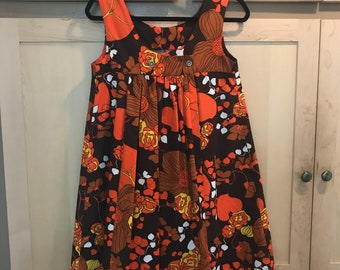 60s Mini Dress- 1960s Clothing- Hippie Dress- Floral Mini Dress- Sleeveless Dress- Mod Clothes- Retro Dress- Festival Outfit- XS SMALL