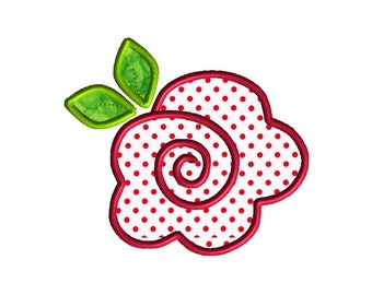Rose Applique Machine Embroidery Design-INSTANT DOWNLOAD