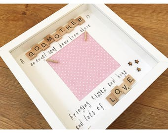 Godparent thank you gift, present for godparents, present from godchild, thank you godparent, godmother gift, godfather present,