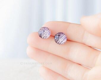 Floral earrings ⇷10mm⇸ Flowers jewelry | Biology gifts for teacher | botanical flowers stud earrings | Floral studs | biology jewelry gift
