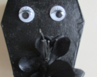 Black Eyes and Flowers Coffin Box