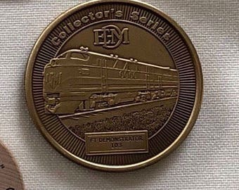 Model Railroader Metal Collectors Coin and Other Vintage Tokens from the 1990's