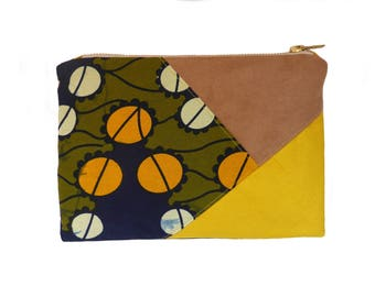 KINGSTON wax and suede pouch