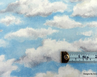 """One Yard Cut Quilt Fabric, Storm Clouds Forming in a Blue Sky, """"Running Wild"""",WestHills Designs, Riverwoods, Sewing-Quilting-Craft Supplies"""
