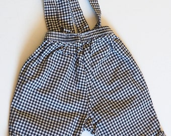 baby girl or boy 6 month Plaid overalls
