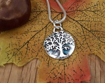 Tree-Of-Life Pendant, Life's Tree Necklace, Tree Of Life Necklace, Tree Of Life Jewellery, Silver Tree Of Life, Birthday Gift, Tree Of Life