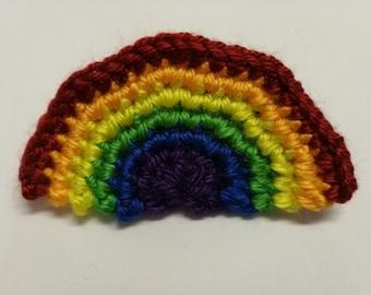 Rainbow Crochet Hairclip