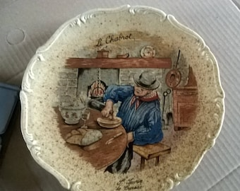 443) glazed stoneware collectors plate