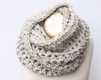 Chunky Infinity Scarf, Knit Wool Scarf, Wool Scarf | THE TILLERY