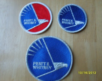 Pratt Whitney Patches, Military Patches, Fabric Patches (3) Airplane Engine, Aviation Patches, Pratt Whitney, Advertising Item