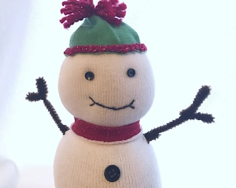 Snowy the Sock Snow Person -Ready to ship!