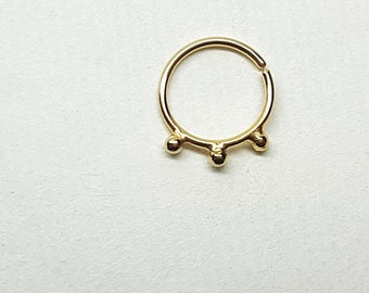 Gold Nose Ring Hoop, Gold Nose Ring, Nose Ring Gold, Nose Ring 18g, 20g Nose Ring, 18 Gauge Nose Ring, Nose Hoop 20g, Gold Hoop Nose Ring
