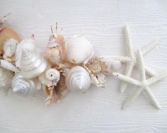Nautical Shell/Starfish Garland, Large Shells