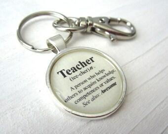 Teacher keychain, The definition of a teacher, teacher gift, end of year teacher gift, male teacher gift