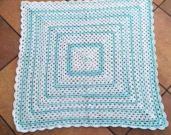 Crocheted Baby Blanket, Baby Blanket, Granny Square Baby Blanket, Nursery Bedding, Stroller Blanket, New Baby Gift, Crocheted Afghan