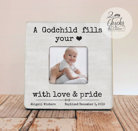 A Godchild Fills Your Heart Frame, Godparent Gift, Personalized ...