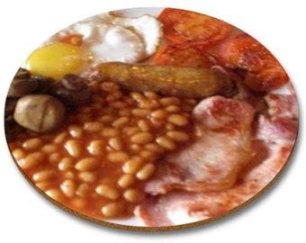 Full english Breakfast  Round  Mousemat